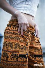 Harem Pantalones Yoga Hippie Festival Boho Gitano Amarillo Elefante Suelto cómoda