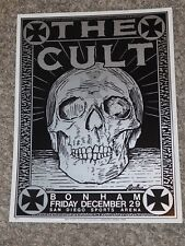 THE CULT Bonham San Diego Concert Poster by Kozik Dec.1989