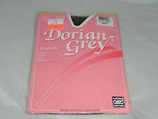 Vintage DORIAN GREY Soft Support Pantyhose Polka Dot Grey Large