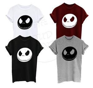Jack Skellington The Nightmare Before Christmas Unisex Adult Kids T-Shirt Top