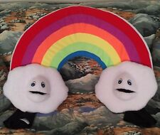 Blacklight Rainbow&Clouds Ventriloquist Puppet Set-ministry, weather,meteorology