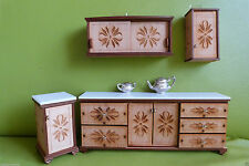 Handmade Miniature Cabinets & Cupboards for Dolls