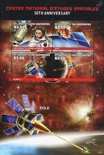 CNES: Astronauta Claudie Haigneré / spot/aureol 1/fr 1 satélite Hoja De Sellos