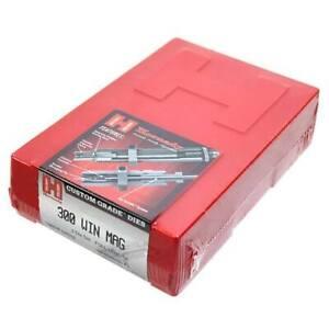Hornady 300 WIN Mag Custom Grade Titanium Nitride 2 Die Set New Sealed 546352