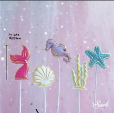 HAPPY BIRTHDAY CAKE PICK Summer Mermaid  TOPPER DECORATION