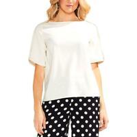 Vince Camuto Womens Short Envelope Sleeve Shirt Blouse Top BHFO 6712
