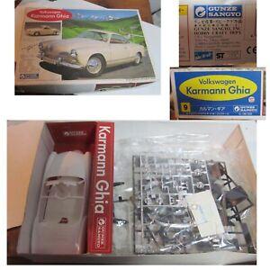 Volkswagen 1963 Carman Ghia Model Kit Gunze Sangyo 1:24 Scale