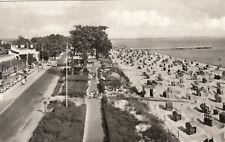 AK inopportun mer baltique Scharbeutz plage avec Promenade et Strandhalle
