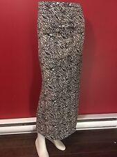 CATO Women's Black/Beige/White Full Length Stretch Skirt - Size XL - NWT
