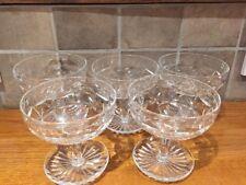 Set of 5 Stunning Webb Corbett Cut Crystal Sundae Dishes