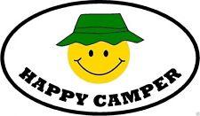 HAPPY CAMPER BUMPER STICKER / DECAL