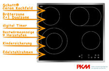 PKM Eb-c4-2kbtc Ceranfeld mit Edelstahlrahmen 4 Kochzonen