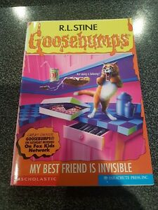 GOOSEBUMPS - My best friend is invisible - #57 1st USA edition paperback book