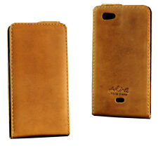 Akira Handmade Leather Cell Phone Protective Case Flip Cover Sony Xperia Micro