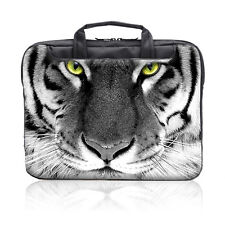 "TaylorHe 15.6"" Laptop Shoulder Bag Carry Case Handles Strap Tiger Face 181"