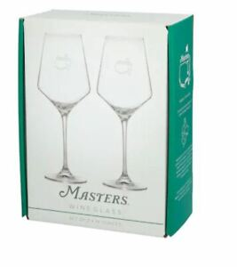 2021 Masters Augusta National Golf Club 14 Ounces Wine Glasses, Set of 2