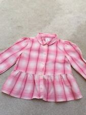 Girls Pink Check Shirt By Gap 3 Yr