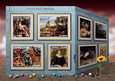 Sierra leone 2016 neuf sans charnière peter paul rubens 4v m/s tiger hunt art stamps