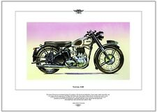 NORTON 16H - Motorcycle Fine Art Print - 500cc Single Classic motorbike picture