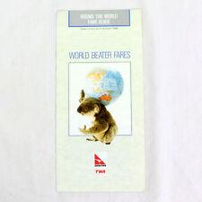 Qantas Twa - World Beater Fares - October 1986 - Advertising Flyer / Booklet