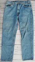 VINTAGE Levi's 505 Orange Tab Denim Jeans Men's Size 36 X 32 Blue  Distressed