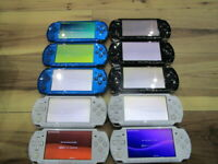 Sony PSP 3000 Lot of 10 Console Blue White Black Japan R869