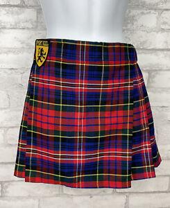 Sport Kilt Mini Skirt Red Blue MacPherson Tartan Plaid USA  Women's Size S