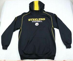 Youth Pittsburgh Steelers XL (18/20) Athletic Hoodie Sweatshirt (Black) Reebok