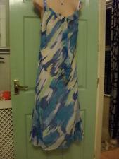 KALEIDOSCOPE LADIES BLUE MULTI DRESS - SIZE 12