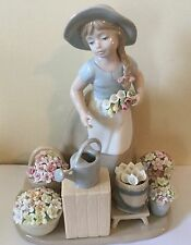 Lladro Style Like Girl With Flower Baskets. Exquisite Stunning! Must Have!