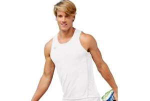 Champion White Tank Top Singlet Running Workout Mens Activewear Size Large