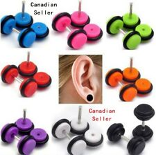 Trend 6pairs Fake Ear Plug Gauge Illusion barbell Cheater Body Jewelry punk gift