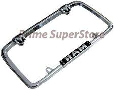 Chrome/Black Dodge Ram Metal License Plate Frame Car/Truck Steel Tag Holder Hemi