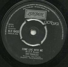RAY CHARLES - COME LIVE WITH ME /EVERYBODY SING 1973 ORIGINAL 70s JAZZ-FUNK/SOUL