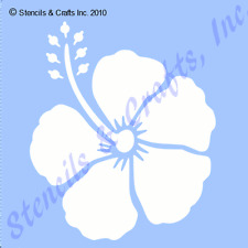 "3"" HIBISCUS STENCIL FLOWER TROPICAL STENCILS FLOWERS CRAFT TEMPLATE ART NEW"