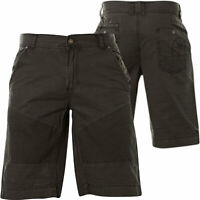 AFFLICTION Mens Denim Shorts ROSSI Embroidered Patch BLACK Buckle BKE $80 NWT