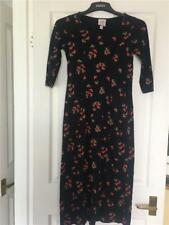 Laura Ashley Cotton Fitted Dress size extra small petite worn once black  Cl1