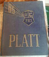 Vintage Meriden Connecticut Orville H. PLATT High School 1965 Yearbook