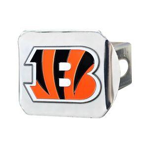 Fanmats NFL Cincinnati Bengals 3D Color on Chrome Metal Hitch Cover Del 2-4 Days