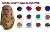 TOP QUALITY JERSEY HIJAB SCARF SHAWL STRETCHY MAXI LYCRA WARM WRAP PLAIN STRETCH