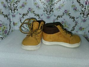 Boys Carters Boots Size 10 Toddler Tie Brown Casual Play Shoes