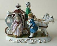 Vintage Figurine - Coach & Horses - Mid Century Ceramics - Japanese Porcelain