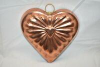 Vintage ODI Copper Tin Heart Jello Mold