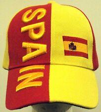 EMBROIDERED KINGDOM OF SPAIN SPANISH ESPANA COUNTRY FLAG FIFA WORLD TEAM CAP HAT