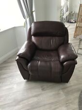 REAL LEATHER WING BACK RECLINER ARMCHAIR