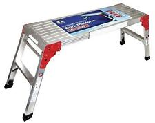 "40"" L x  20"" H x 12"" W Type II Folding Aluminum Work Platform Ladder Scaffolding"