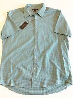 Michael Kors Mens Slim Fit Short Sleeve Button Down Shirt 2XL $98