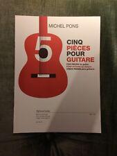 Michel Pons Cinq pièces pour guitare score partition éditions Leduc