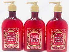 3 Bath & Body Works Nourishing Hand Soap Winter Candy Apple 8 oz