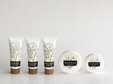 Leaves Mini Hotel Amenity 5 Piece Set, Shampoo, Conditioner, Lotion & 2 Soaps